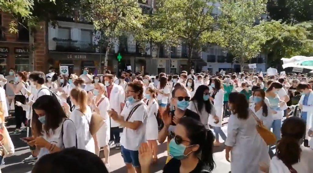Huelga de residentes en Madrid