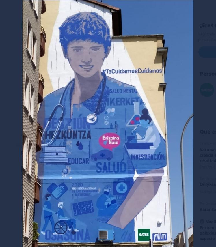 Mural en homenaje a las enfermeras | Satse Álava