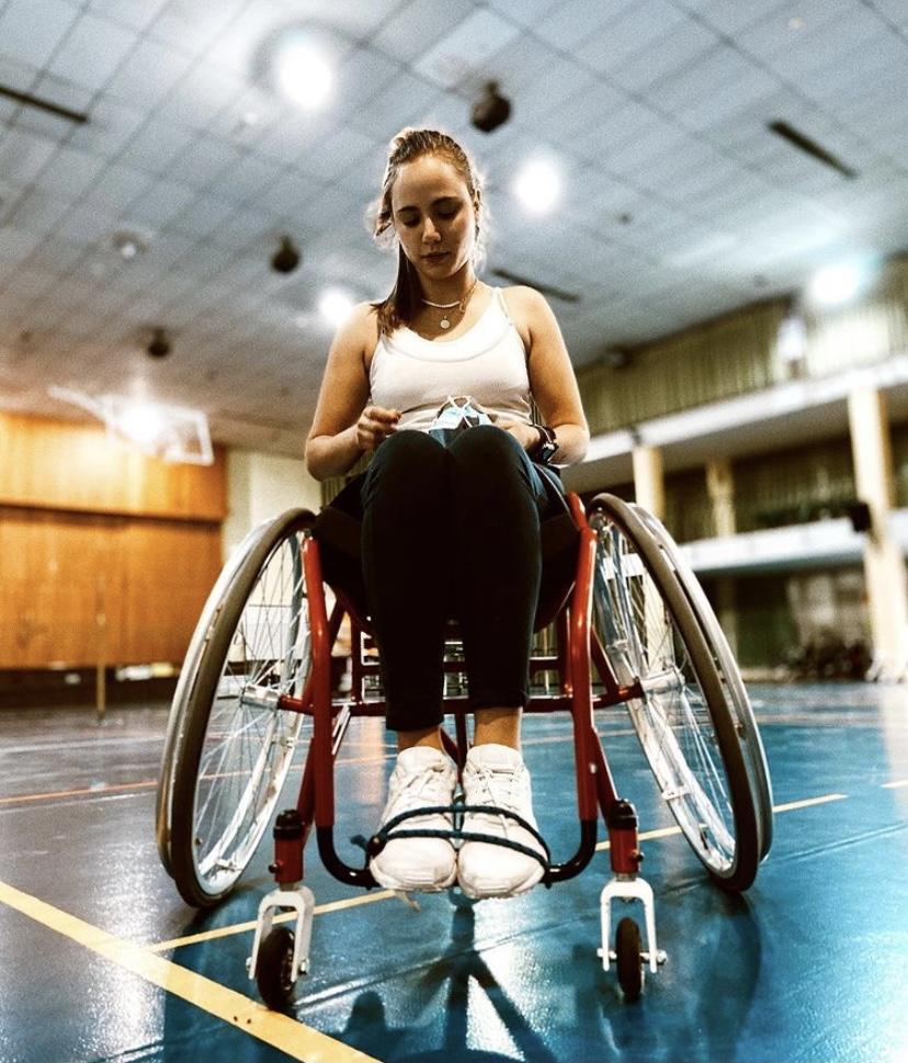 Lucía Martínez en rehabilitación