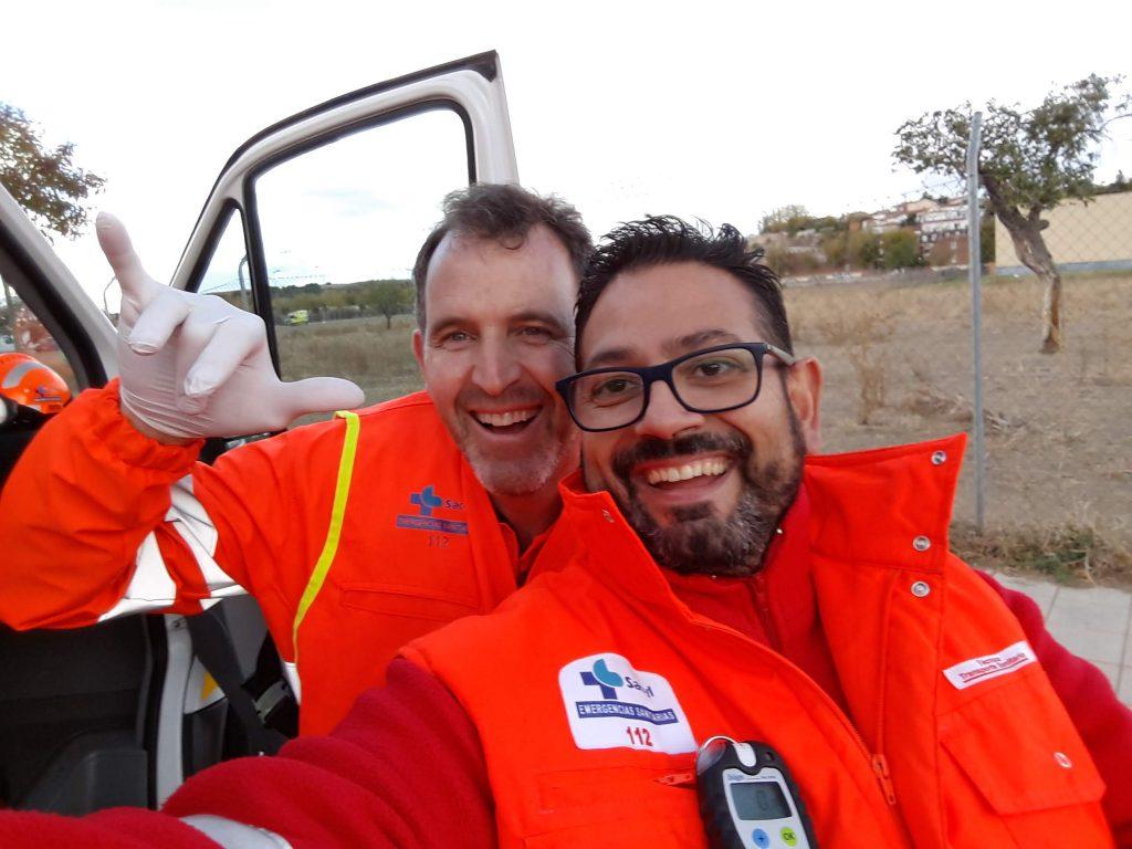 Ángel Gómez y Germán Prieto. Médico y Técnico de Emergencias Sanitarias