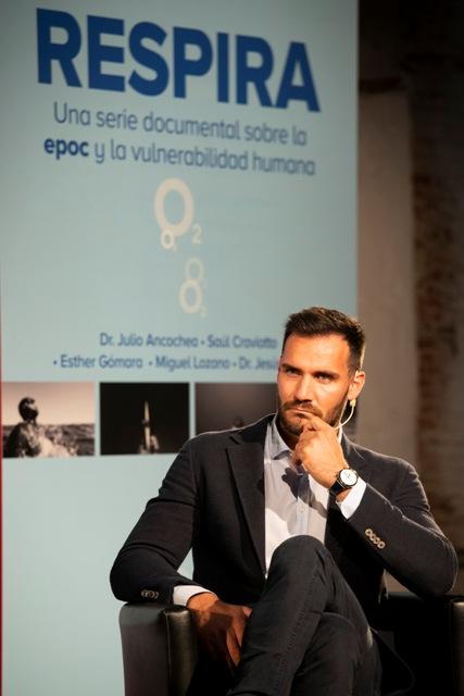 Saúl Craviotto en la presentación de 'Respira' | Fuente: GSK