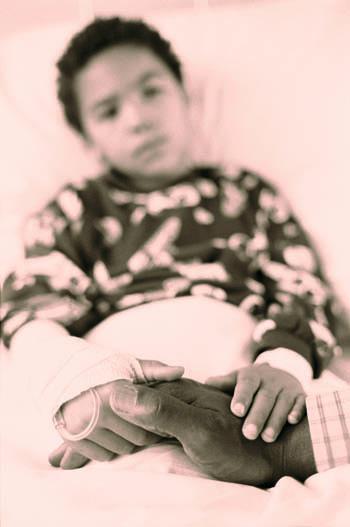 Child holding Parents' Hand