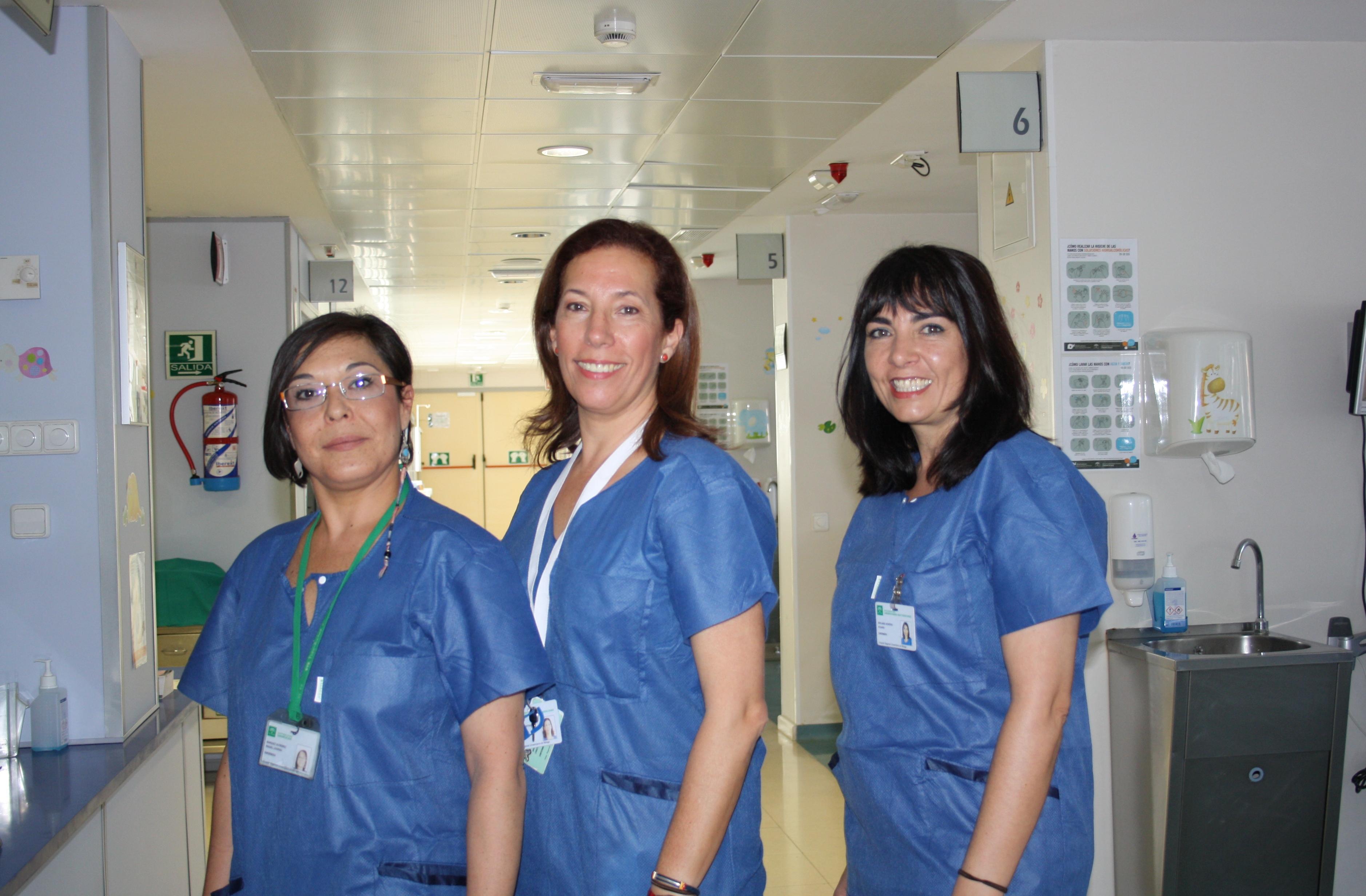 UCIP enfermeras en sala