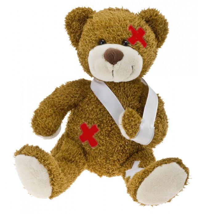 Teddybr als Patient