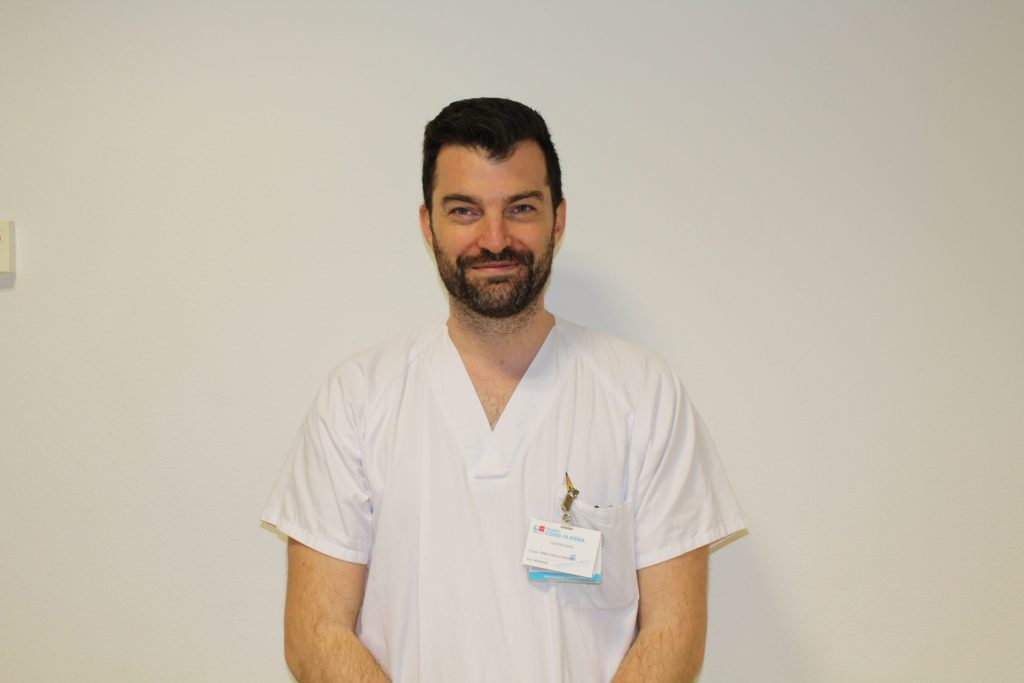 Pablo Cazallo, supervisor de Enfermería en el Hospital de IFEMA