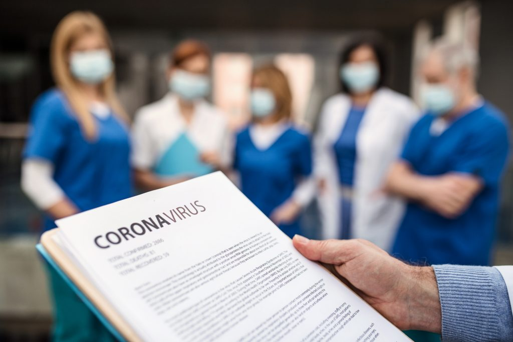 Profesionales sanitarios frente al coronavirus