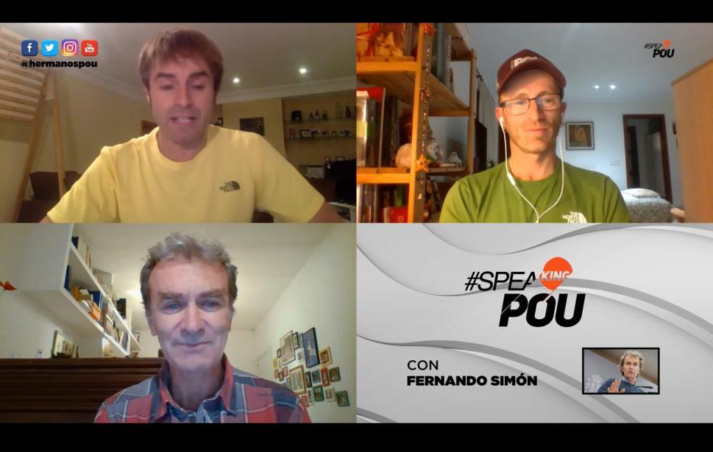 Fernando Simón durante la entrevista |Captura de pantalla de la entrevista de  SPEAKINGPOU