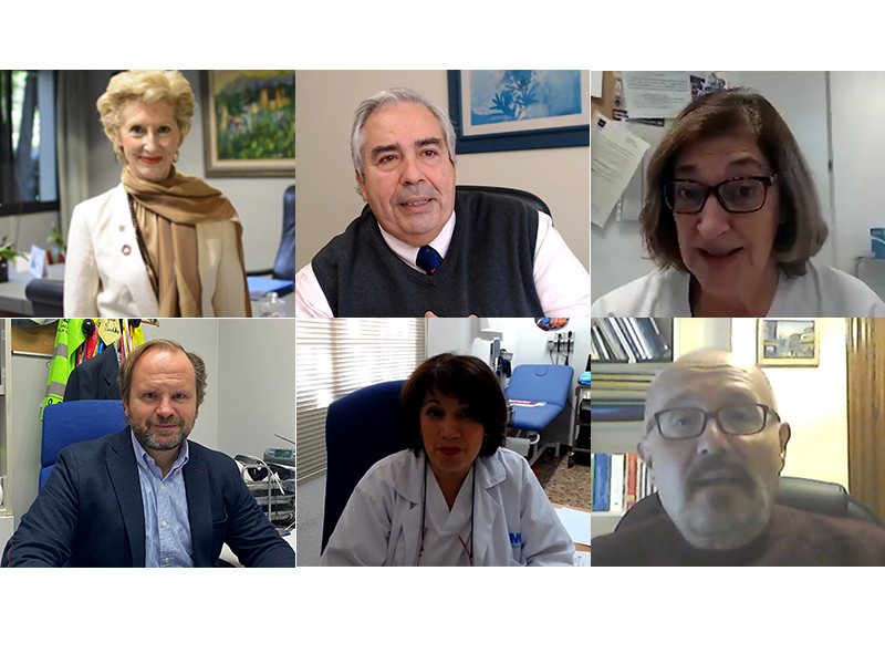 Pilar Fernández, Enrique Javier Vargas, Isabel Jimeno, Íñigo Lapetra, Marina Moreno, y Juan Francisco Rufino González